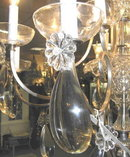 10-Light Pewter Crystal Electrified Chandelier