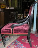 Pair Exotic Aesthetic Upholstered Side Chairs
