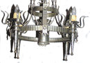Gothic Revival Electrified Iron Chandelier