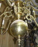 Large Dutch Baroque Brass 12-Arm Chandelier
