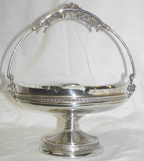 Taunton Silverplate Handled Basket
