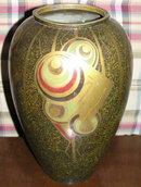 French Art Deco Dinanderie Bronze Vase by M. Charles