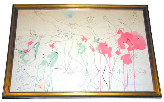 Dimitri Petrov (1919-1986) Surrealist Painting