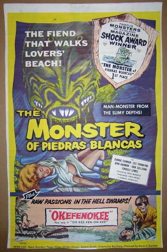 Monster of Piedras Blancas B-Movie Poster (1959)