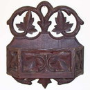 Arts & Crafts Carved Wooden Wall Pocket