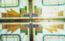 French Art Deco Stained Glass Ceiling