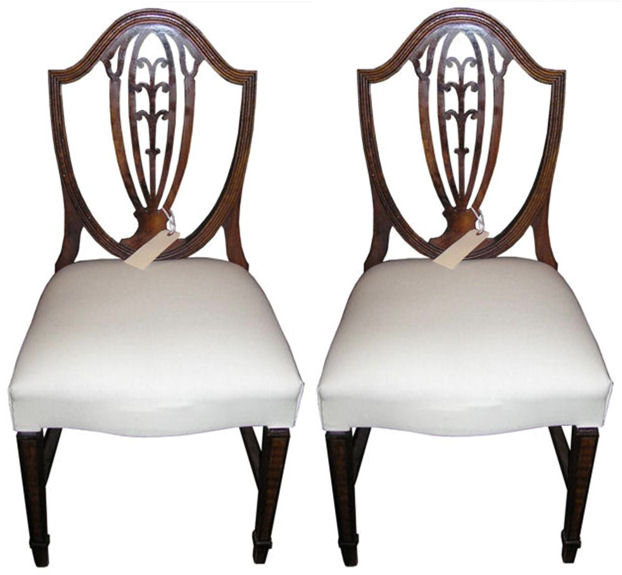 Pair Shield Back Hepplewhite Side Chairs