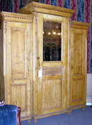 Antique Pine Classical Triple Armoire