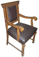 Renaissance Revival Carved Oak Armchair