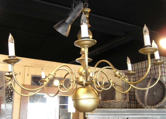 Dutch Baroque Electrified Brass Chandelier