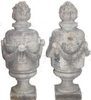 PAIR Antique Classical Limestone Garden Finials
