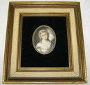 Miniature French Female Portrait by J Brandl