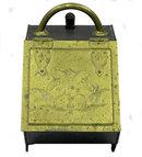 Antique Chased Brass Coal Scuttle & Shovel