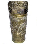 Medieval Style Brass Repousse Umbrella Stand