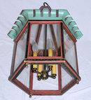 Antique American Painted Metal Lantern