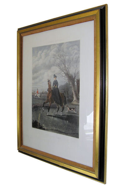 Equestrian Sporting Scene Charles Hunt Engraving After John Sturgess Painting