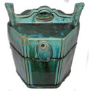 Antique Chinese Green Glazed Stoneware Tea Pot
