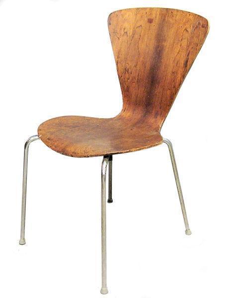 Mid-Century Modern Bentwood Chair After Lennart Bender