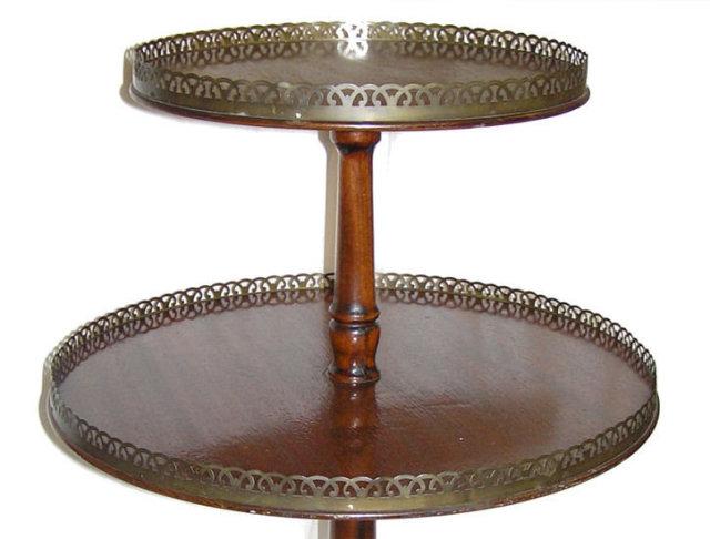 Antique Mahogany Dumbwaiter Table