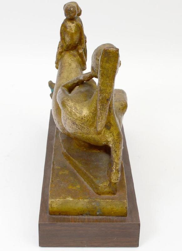 Pikko Nikolitch (1907-1979) Mother and Children Bronze Figurine Sculpture