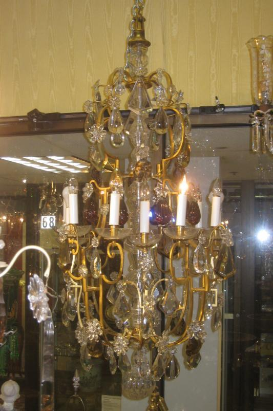 Monumental French Louis XV Bronze and Crystal Chandelier