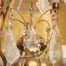 Vintage Venetian Italian Gilt Metal Giltwood and Cut Glass Chandelier
