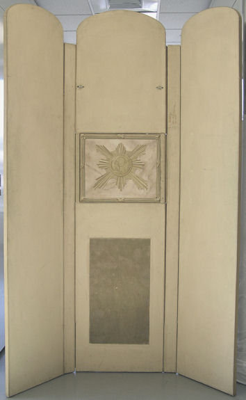 Vintage Trompe L'Oeil Screen in Neoclassical Style