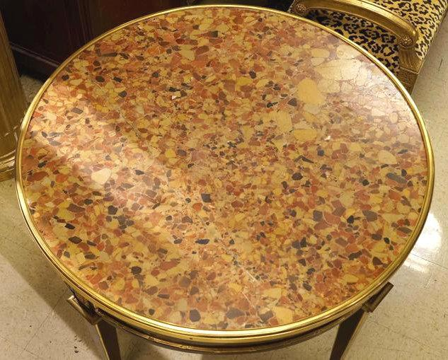 Antique French Louis XVI Style Marble Center Table