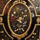 French Napoleon III Ebonized Meuble d'Appui Cabinet