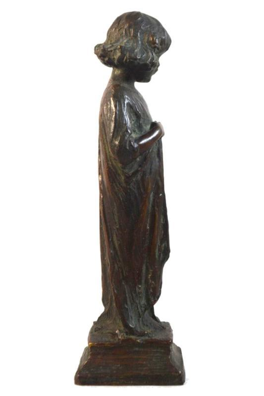 Bessie Potter Vonnoh (1872-1955) Bronze Figurine Sculpture of Girl