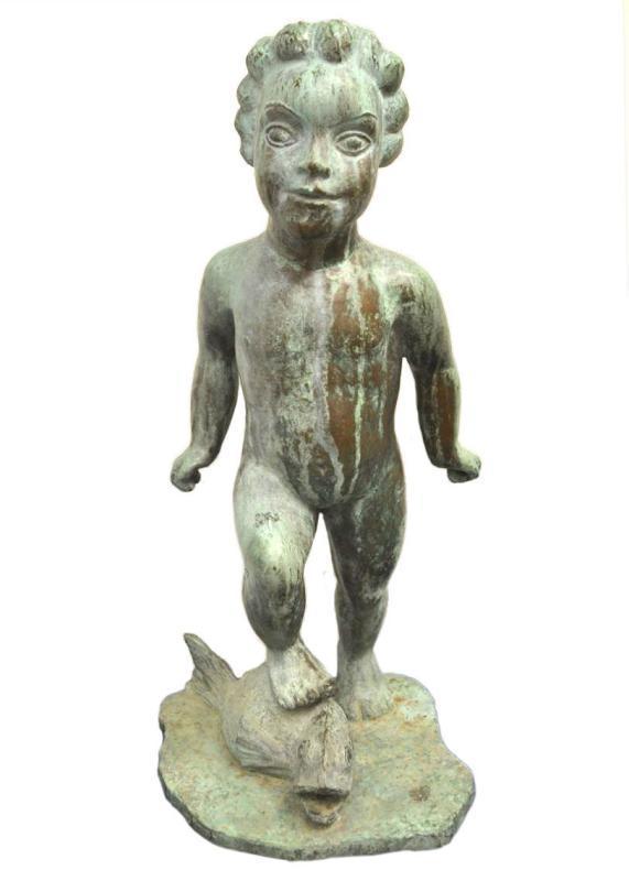 Wheeler Williams (1897-1962) Attributed Bronze Garden Fountain Sculpture
