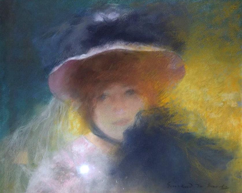 Lucien Victor Guirand de Scevola Attributed Figurative Pastel