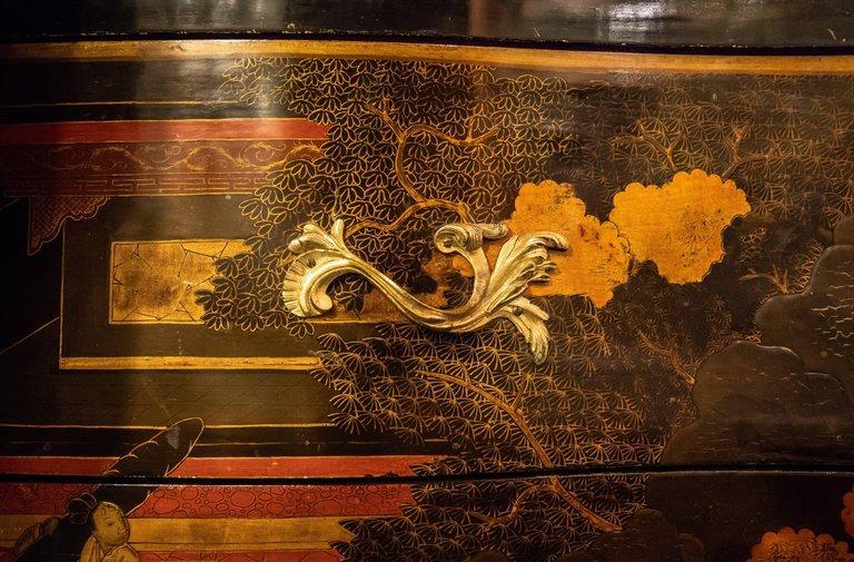 Louis XV Style Chinoiserie Lacquered Commode by Jeanselme of Paris