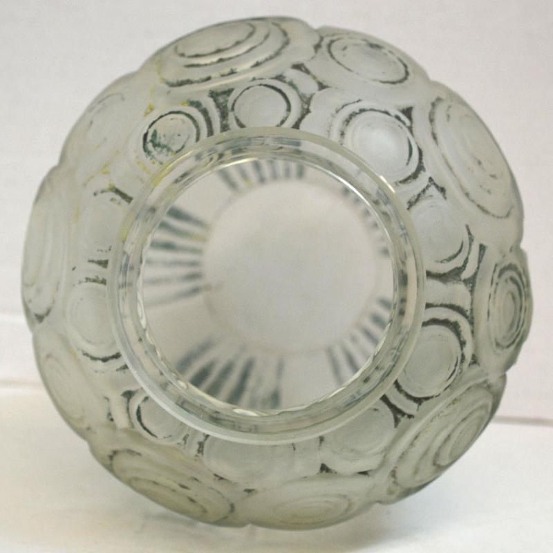 André Hunebelle (1896-1985) Art Deco Glass Vase