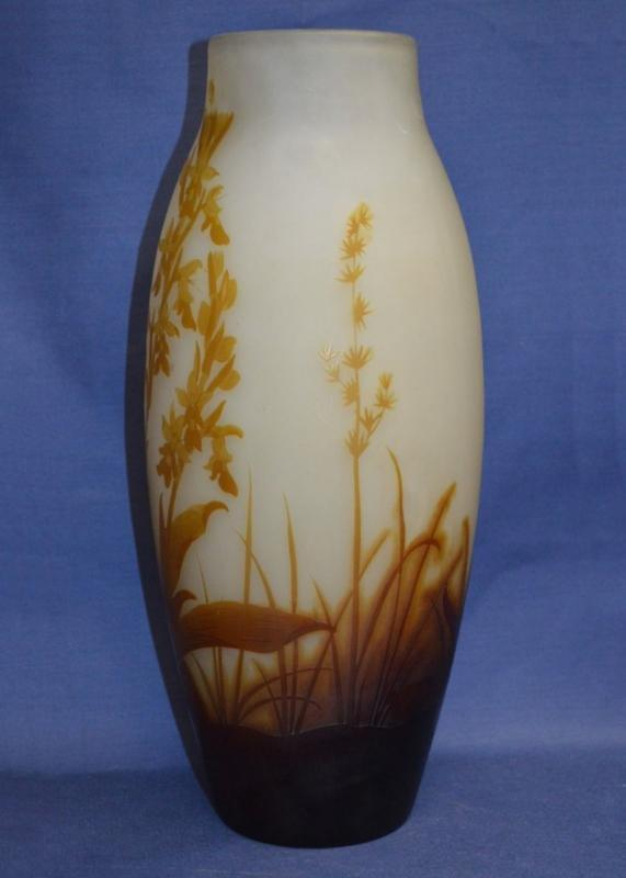 Emile Galle (1846-1904) Cameo Glass Vase