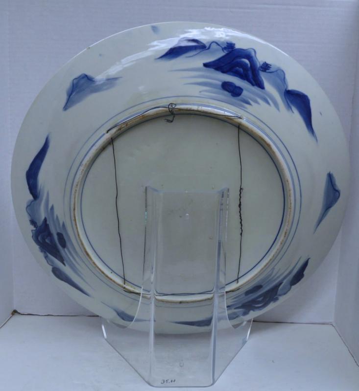 Antique Edo Period Imari Arita Japanese Porcelain Charger