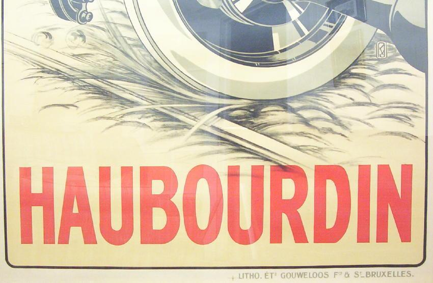 HAUBOURDIN L' AMORTISSEUR French Automobile Shock Absorber Brand Advertising Poster