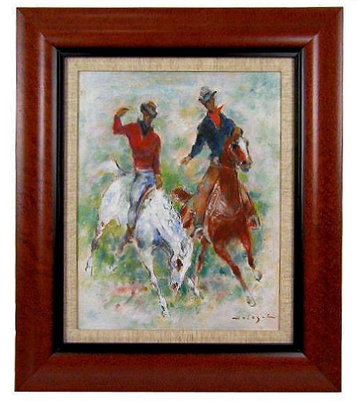 Denes de Holesch American Rodeo Horses Oil Painting