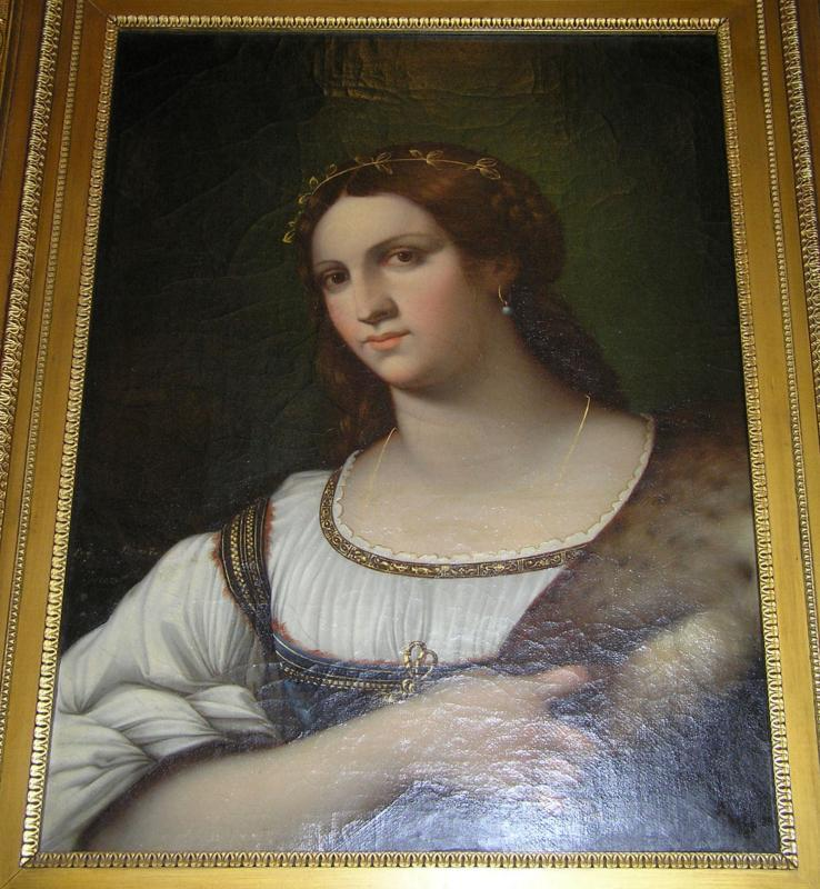 Portrait of a Woman Oil Painting After Sebastiano del Piombo by Italian Master, Luigi del Buono