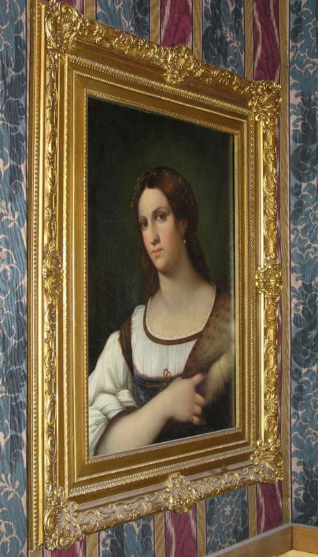 Female Portrait Oil Painting After Sebastiano del Piombo by Italian Master Luigi del Buono