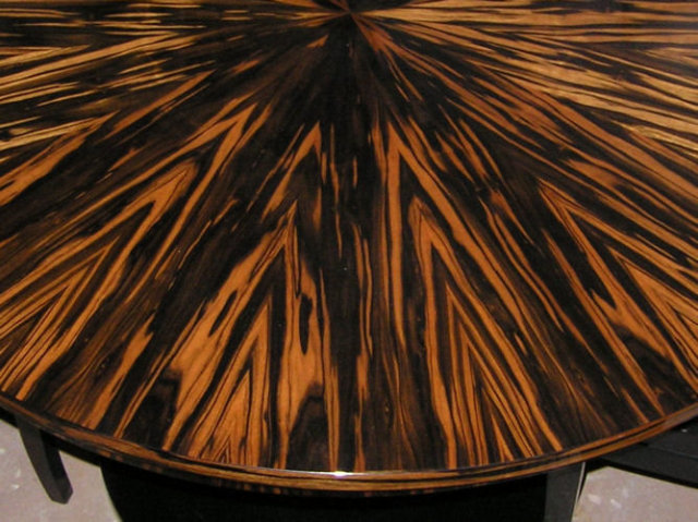 Macassar Round Center or Dining Table