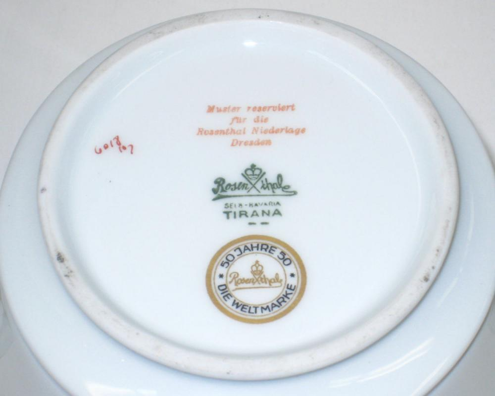 Rosenthal 50 Year Anniversary Art Deco Porcelain Coffee & Tea Service