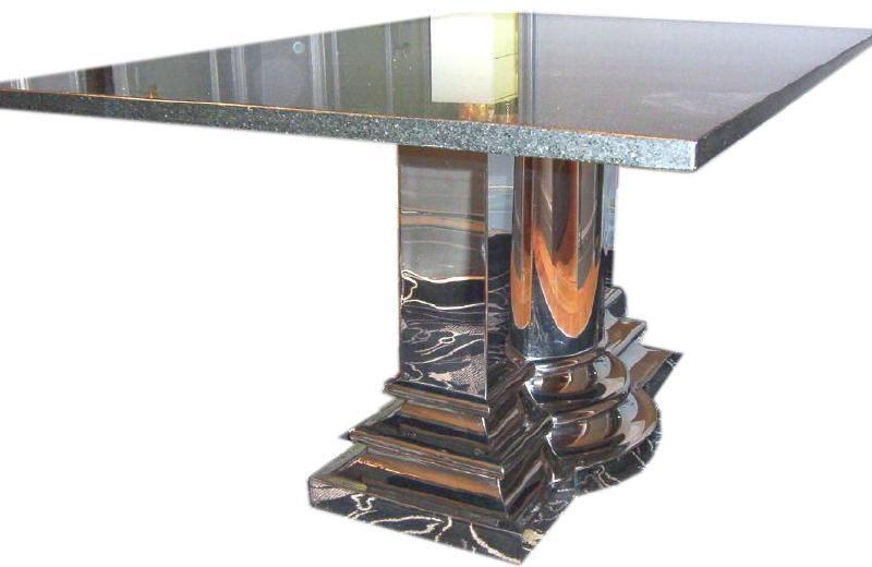 Stanley Jay Friedman Classic Column Granite Dining Table from Brueton
