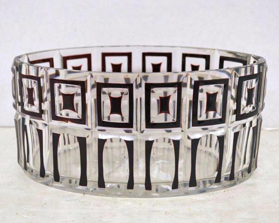 Otto Prutscher (1880-1949) Attributed Jugendstil Glass Bowl