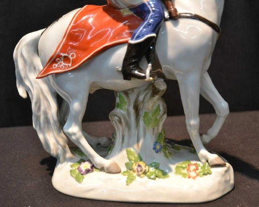 Meissen Russian Cossack on Horseback Figurine