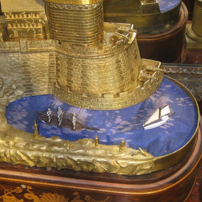 French Nautical Automaton Mantel Clock
