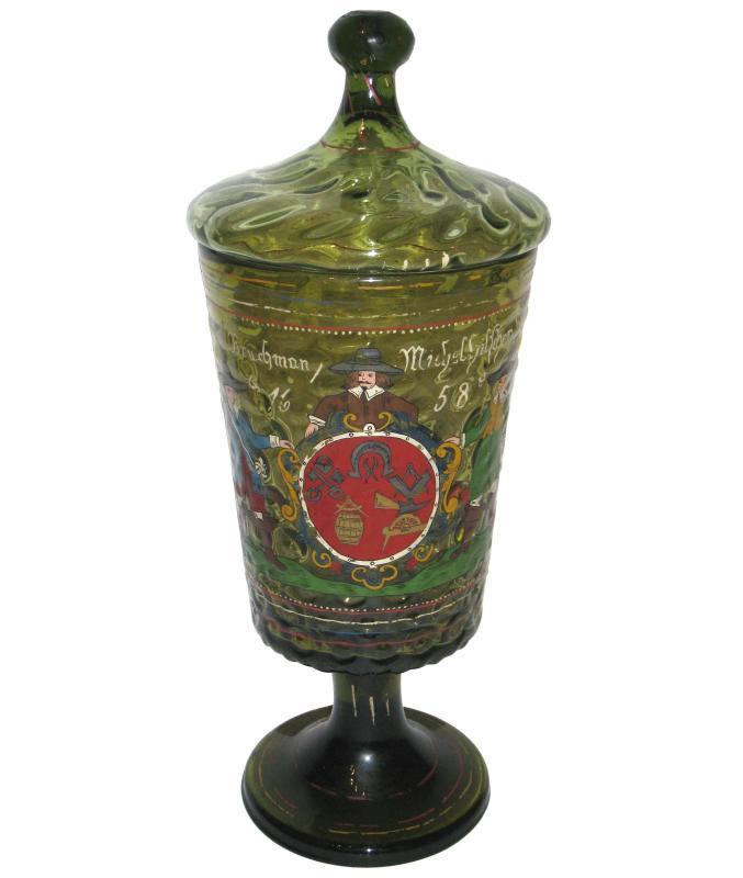 Germanic Hessen Hessian Masonic Trade Guild Humpen Pokal Goblet