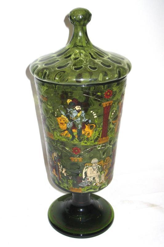 Antique German Masonic Glass Pokal Goblet