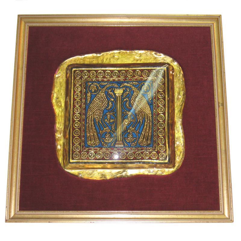Renaissance Style Blown Glass Plaque