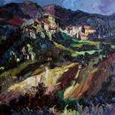 Aubres Nyons French Landscape Oil Painting by Emeric